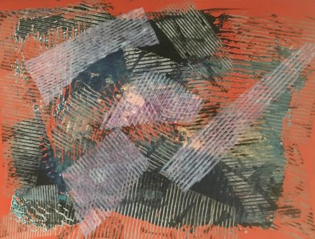 Collograph Gilliam - Beat on Boxes