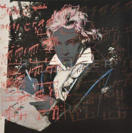 シルクスクリーン Warhol - Beethoven (Fs Ii.391)