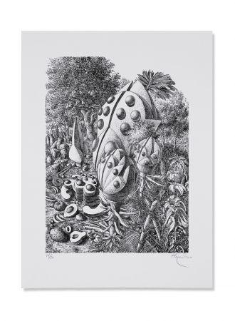 リトグラフ Alejandro - Beetle Forest