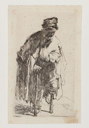 彫版 Rembrandt - Beggar with a wooden Leg