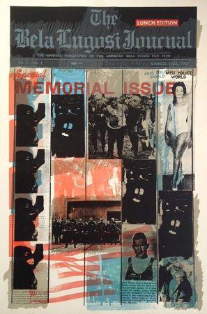 シルクスクリーン Tilson - Bela Lugosi Journal B