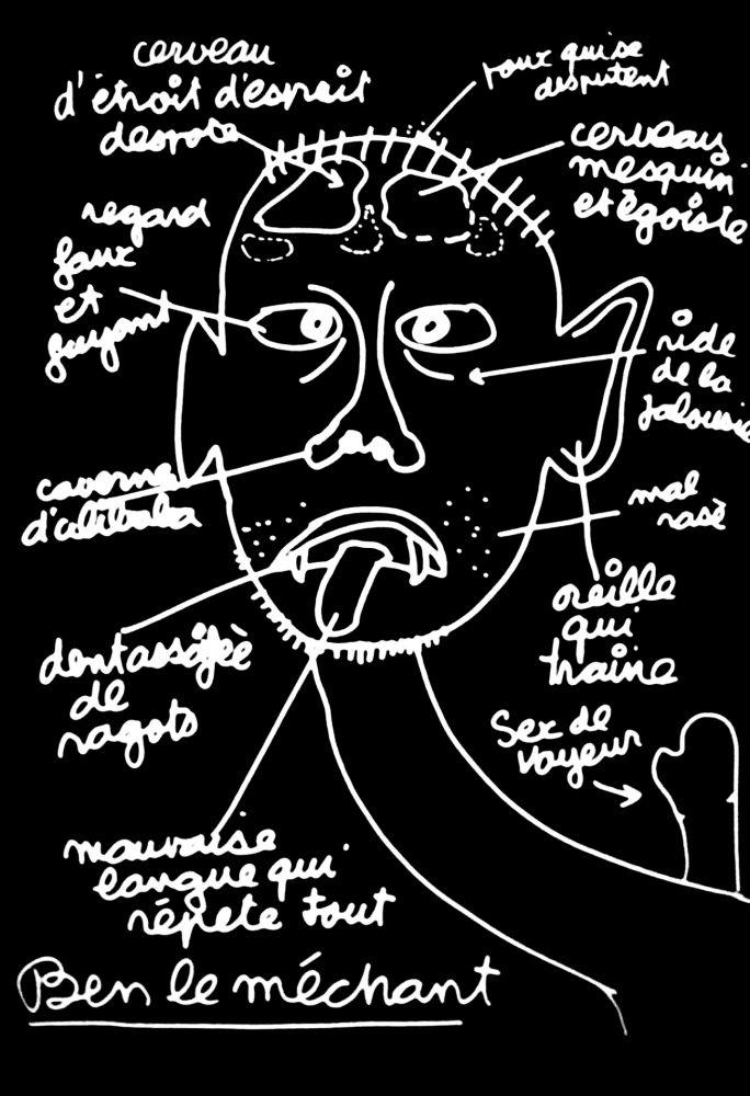 シルクスクリーン Vautier - '' Ben le Méchant ''