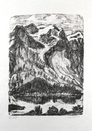 リトグラフ Heckel - Berghang Am See
