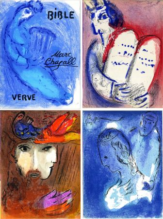 挿絵入り本 Chagall - BIBLE. Verve vol. VIII. n°33 et 34. 16 LITHOGRAPHIES ORIGINALES (1956).