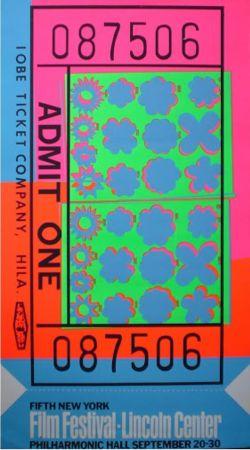 シルクスクリーン Warhol - Biglietto Lincoln Center (FS II.19)