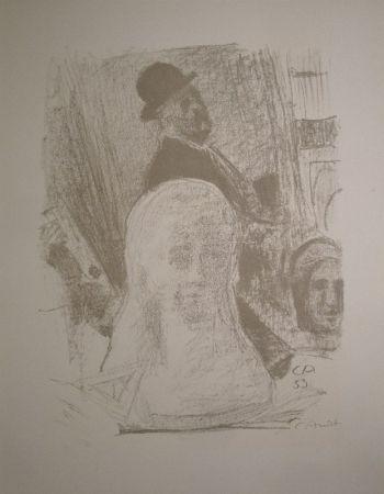 リトグラフ Amiet - Bildnis des Künstlers mit Büste der Gattin