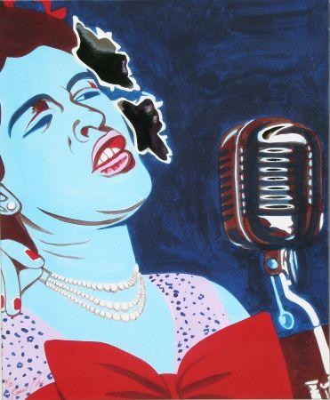 シルクスクリーン Rancillac - Billie Holiday