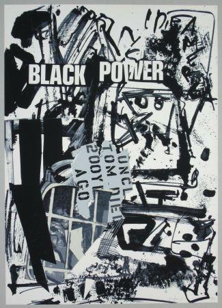 リトグラフ Vedova - Black power