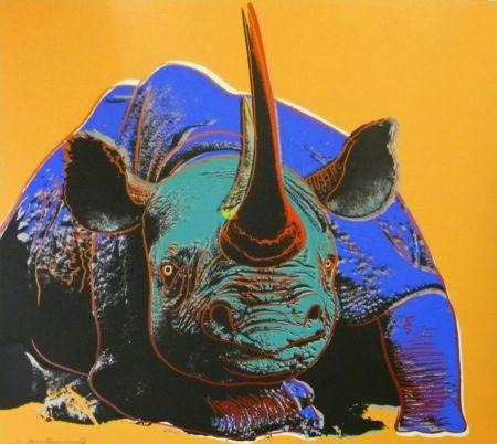 シルクスクリーン Warhol - Black Rhinoceros (FS II.301)