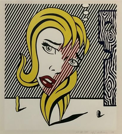 リトグラフ Lichtenstein - Blonde (Surrealist Series)