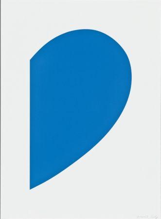 リトグラフ Kelly - Blue Curve