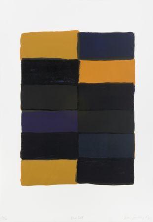 リトグラフ Scully - Blue fold-litho