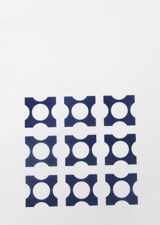 リトグラフ Vasarely - Blue From Album I Suite