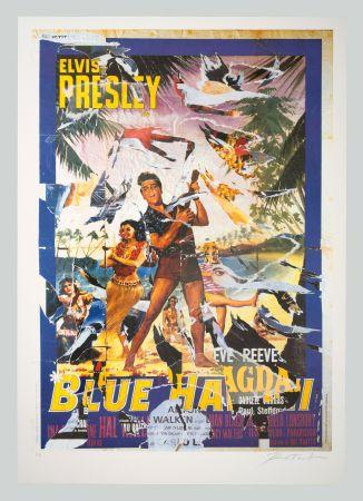 シルクスクリーン Rotella - Blue Hawaii