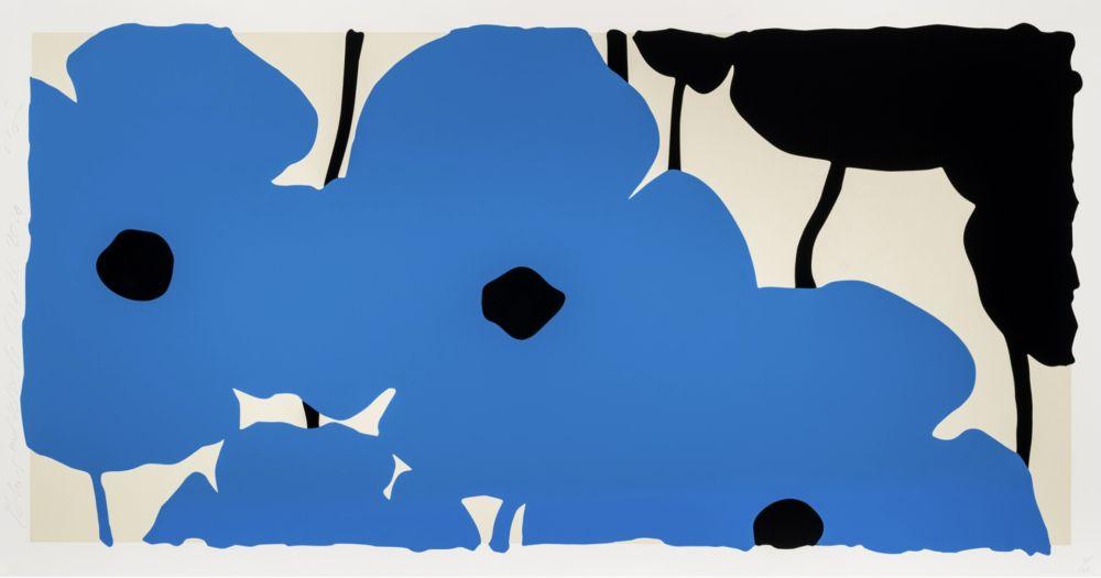シルクスクリーン Sultan - Blue Poppies