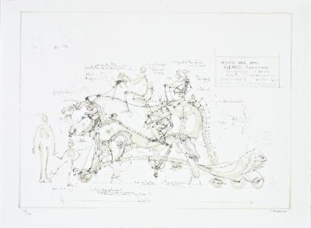 リトグラフ Delarozière - Boeuf de manège