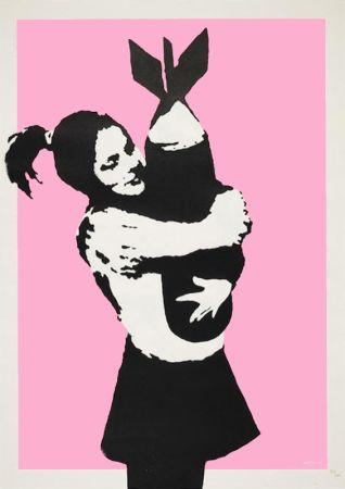 シルクスクリーン Banksy - BOMB LOVE (BOMB HUGGER)