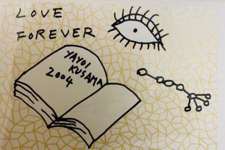 シルクスクリーン Kusama - Book to Read at Night A