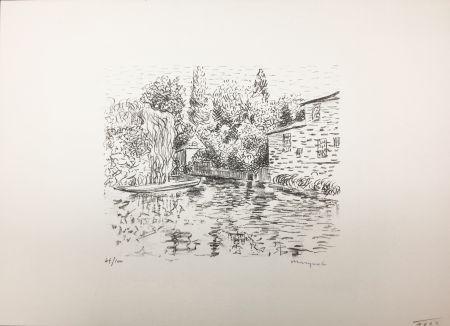 リトグラフ Marquet - Bord de rivière