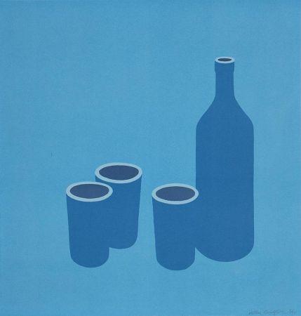 シルクスクリーン Caulfield - Bottle and Cups