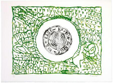 リノリウム彫版 Alechinsky - Bouche d'eau I