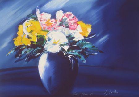 リトグラフ Spahn - Bouquet