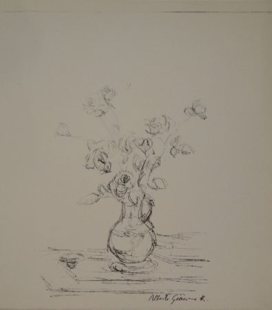 リトグラフ Giacometti -  Bouquet dans une cruche I