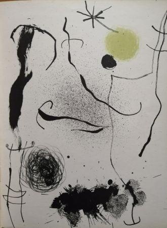 リトグラフ Miró - Bouquet de rêves pour Leila