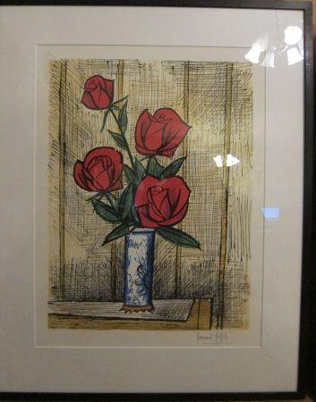 リトグラフ Buffet - Bouquet Roses