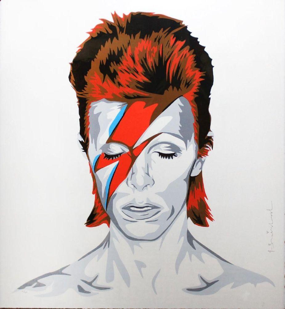 シルクスクリーン Mr. Brainwash - Bowie