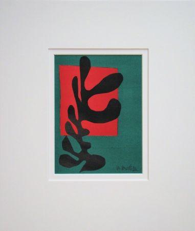 リトグラフ Matisse (After) - Boxeur nègre, 1947