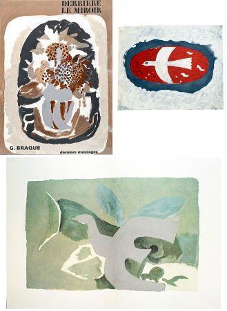 挿絵入り本 Braque - BRAQUE, derniers messages. Derrière le Miroir n° 166 . Juin 1967.