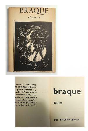 挿絵入り本 Braque - Braque dessins (1955)