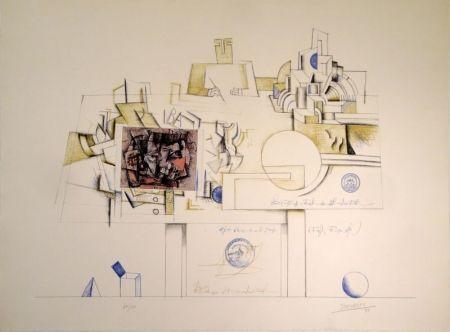 リトグラフ Steinberg - Braque Postcard