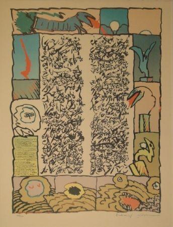 リトグラフ Alechinsky - Brassée sismographique