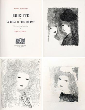 挿絵入り本 Laurencin - BRIGITTE OU LA BELLE AU BOIS DORMANT (M. Jouhandeau. 1925)