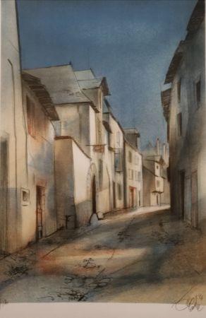 リトグラフ Valadie - Brive - rue basse - Limousin