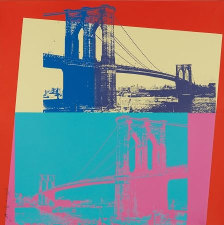 シルクスクリーン Warhol - Brooklyn Bridge