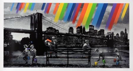 シルクスクリーン Roamcouch - Brooklyn Bridge - Mono