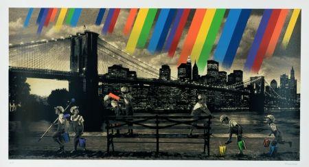 シルクスクリーン Roamcouch - Brooklyn Bridge - Sepia