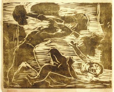 木版 Corinth - Brudermord (Cain and Abel)