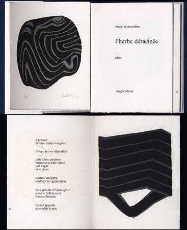 挿絵入り本 Ubac - Bruno de MONTALIVET. L'HERBE DÉRACINÉE. Gravures de Raoul Ubac