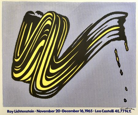 リトグラフ Lichtenstein - Brushstroke (Hand Signed)
