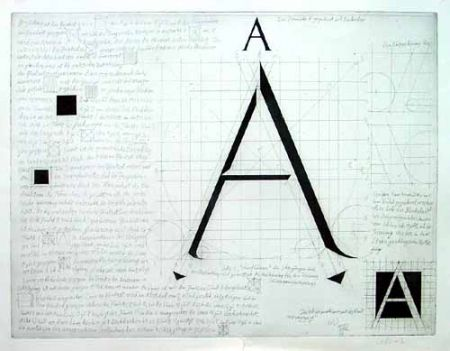彫版 Bunz - Buchstabe A / The Letter A