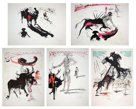 リトグラフ Dali - Bullfight Suite (Tauromachie)