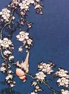 写真 Muniz - Bullfinch and weeping cherry from small flowers