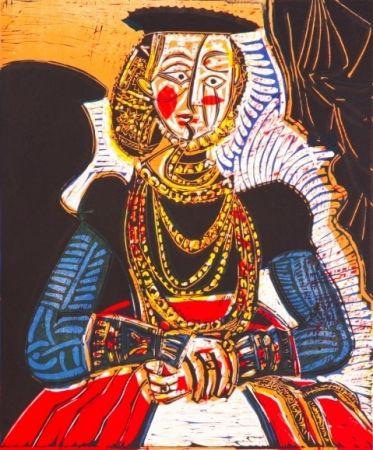 リトグラフ Picasso - Buste de Femme
