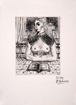 エッチング Delvaux - Buste de Femme III