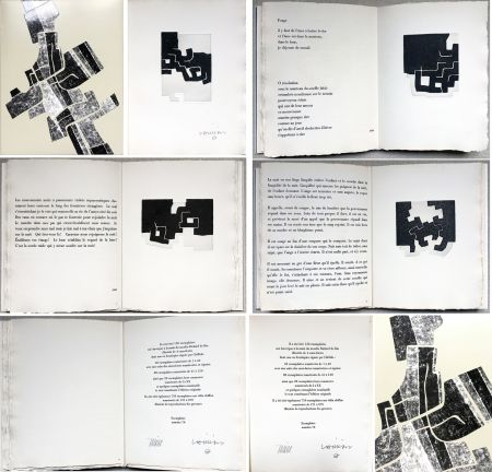 挿絵入り本 Chillida -  C. Racine. LE SUJET EST LA CLAIRIÈRE DE SON CORPS. Poèmes. 4 eaux-fortes originales (1974)