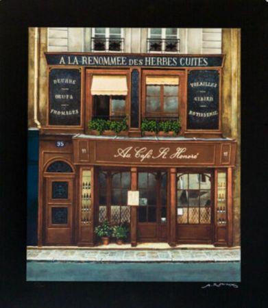 シルクスクリーン Renoux - Cafe St. Honore